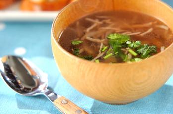 ゴボウのエスニックスープ