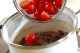 トマト入り牛佃煮丼の作り方3