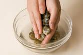 アサリとレタスの汁麺の作り方1