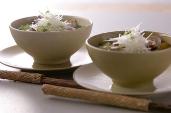 アサリとレタスの汁麺