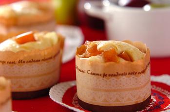リンゴの赤ワイン煮とチーズの蒸しパン