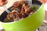 アサリと菊菜のスープの作り方3
