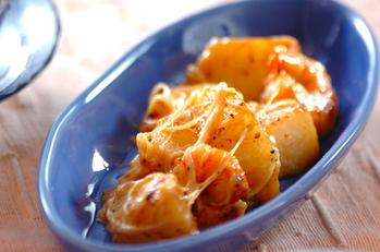 長芋とエビのチーズ炒め