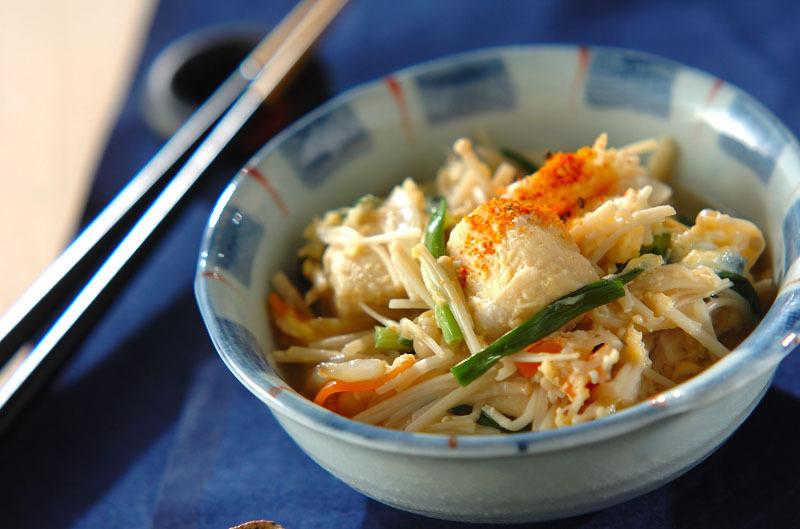 高野豆腐と玉ねぎの卵とじ