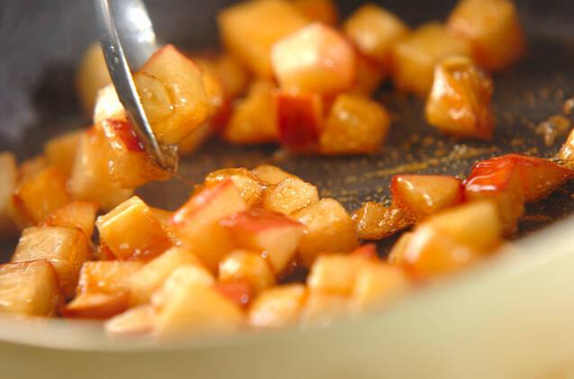 サツマイモとリンゴのシナモンもなかの作り方の手順1