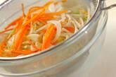 野菜のヘルシー甘酢和えの作り方1