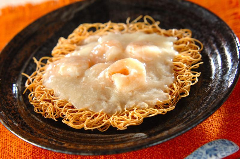 5. プリプリエビのあんかけ素麺