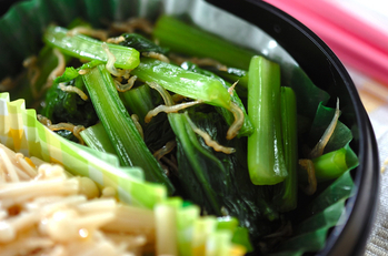 小松菜とジャコのポン酢和え