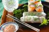 梅マヨソースのサラダ生春巻きの作り方の手順