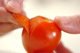 トマトともずくの和風サラダの作り方1