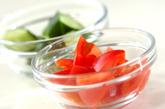 キュウリとトマトのサラダの作り方1