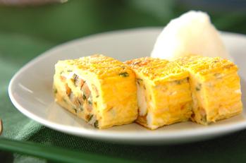 アナゴの卵焼き