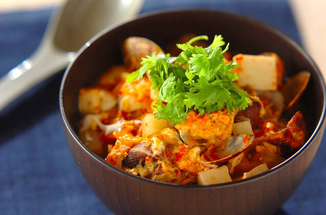 3. 豆腐のキムチスープご飯