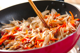 牛ゴボウ佃煮ご飯の作り方1