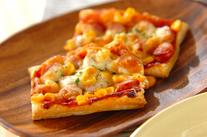 ソーセージのピザパイ