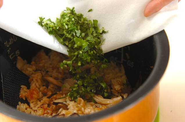 冷凍キノコの炊き込みご飯の作り方の手順4