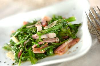 菊菜のガーリック炒め