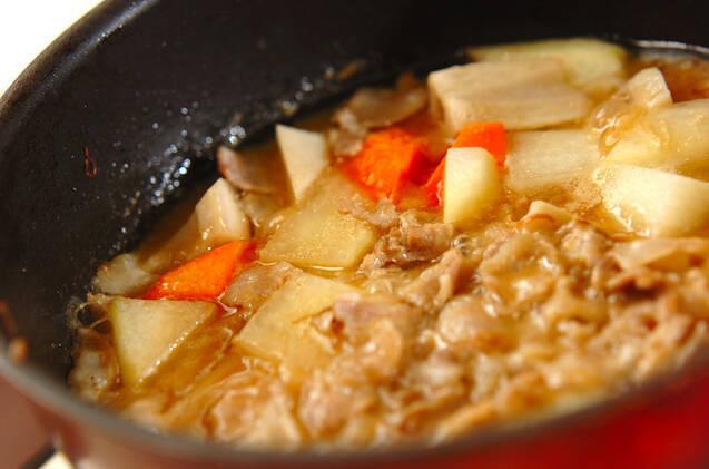 大根と豚バラ肉のみそ煮の作り方の手順8