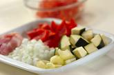 野菜の煮込みの下準備1