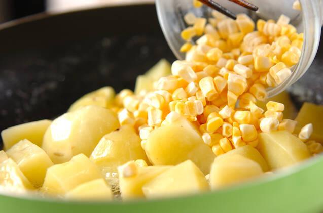 ジャガとコンビーフ炒めの作り方の手順4