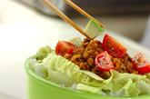 ダイエットタコライス丼弁当の作り方3