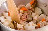 根菜と豚肉のあっさり煮の作り方1