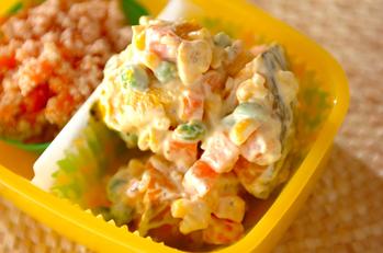 カボチャの簡単サラダ