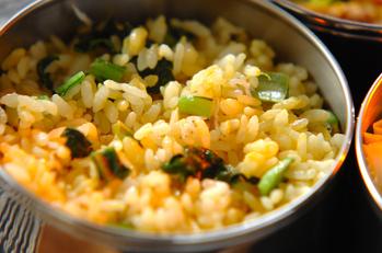 ジャコと小松菜のチャーハン