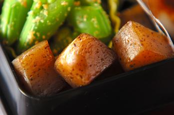 コンニャクの炒り煮