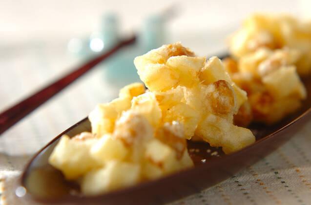 ヒヨコ豆とじゃがいものひとくち揚げ