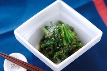 菊菜の甘ゴマ和え