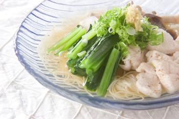 鶏つるりんお素麺