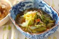 白菜とシラス干しのサッと煮