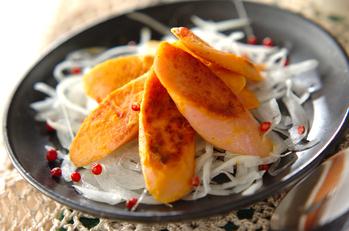 魚肉ソーセージのマスタード焼き