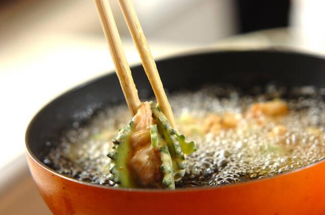 ゴーヤのカレー天ぷらの作り方の手順6