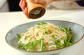 エノキ明太スパゲティーの作り方4