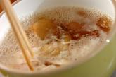 ミョウガのふんわり卵汁の作り方2