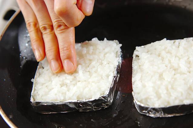 アボカド納豆ライスバ-ガーの作り方の手順6