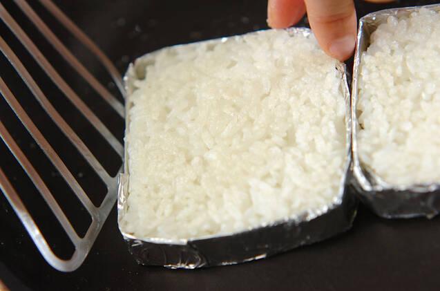アボカド納豆ライスバ-ガーの作り方の手順7