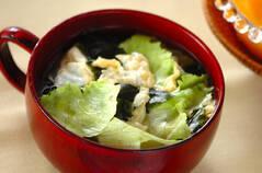 シャキシャキレタスのスープ