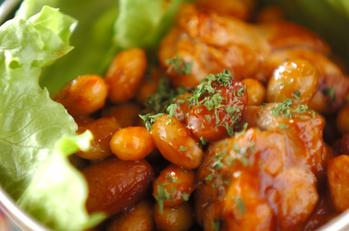 チキンと豆のケチャップ焼き