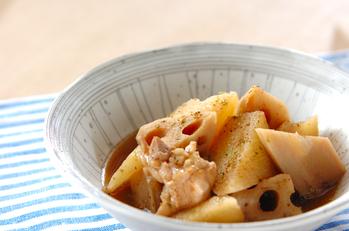 レンコンと長芋の煮物