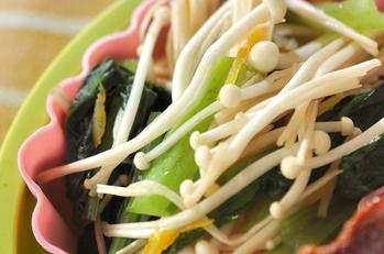 小松菜とエノキのお浸し
