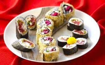 とろろ昆布の細巻き寿司