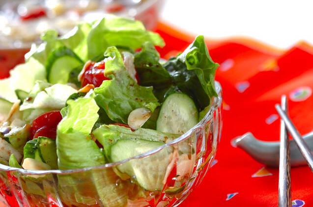 トマトジュースのサラダ