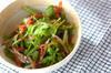 菊菜のベーコンサラダの作り方の手順