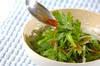 菊菜のベーコンサラダの作り方の手順5