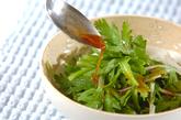 菊菜のベーコンサラダの作り方1