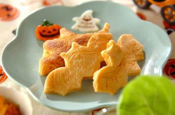 型抜きキャラメルパンケーキ