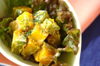 カボチャのシンプルサラダ